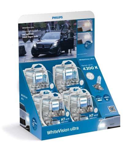 Philips WhiteVision ultra 12342WVUSM H4 2ks plus 12972WVUSM H7 4ks