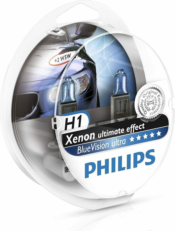 Philips BlueVisionUltra 12258BVUSM H1 P14,5s 12V 55W 2ks