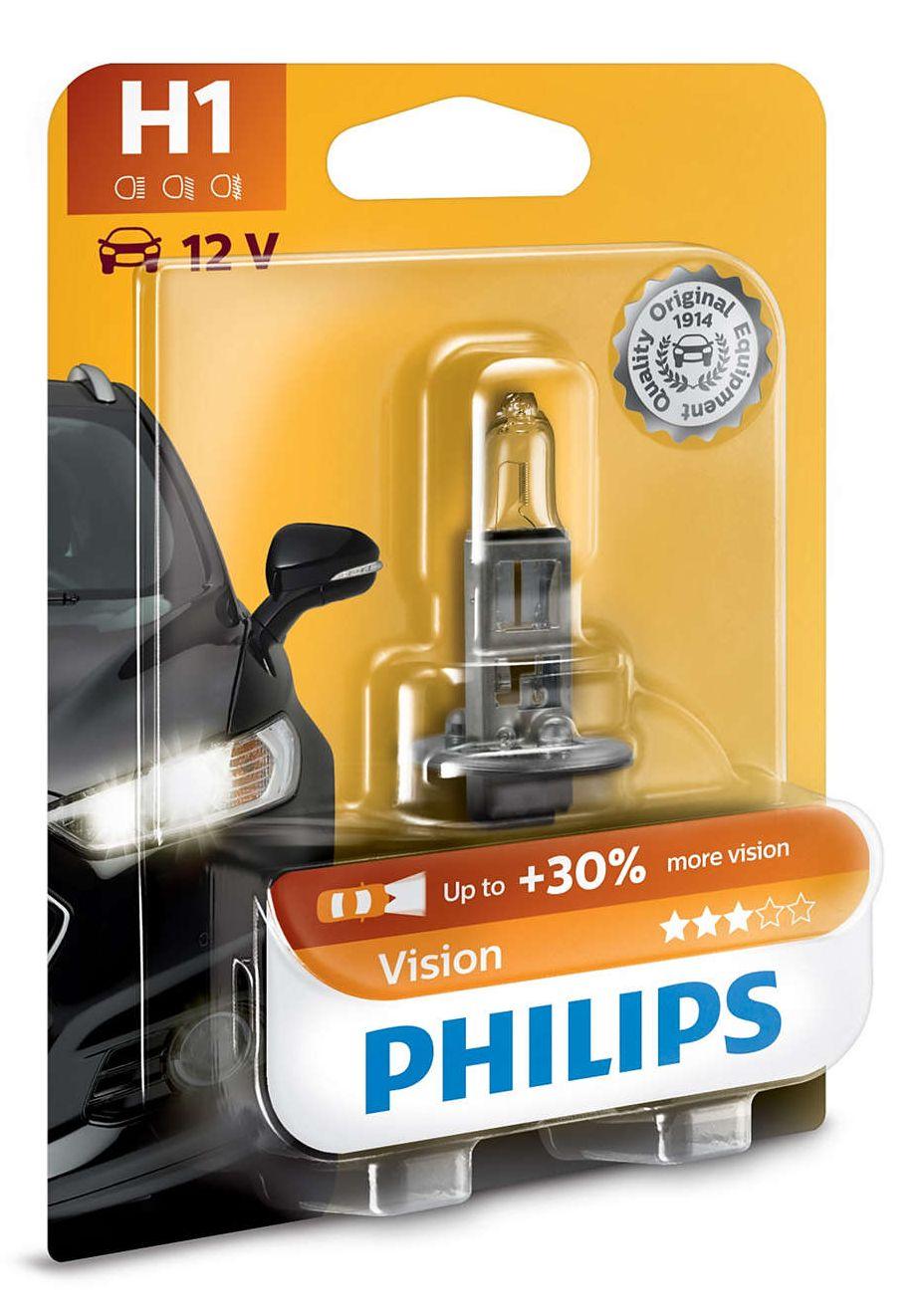 Philips Vision+30% 12258PRB1 H1 P14,5s 12V 55W blistr