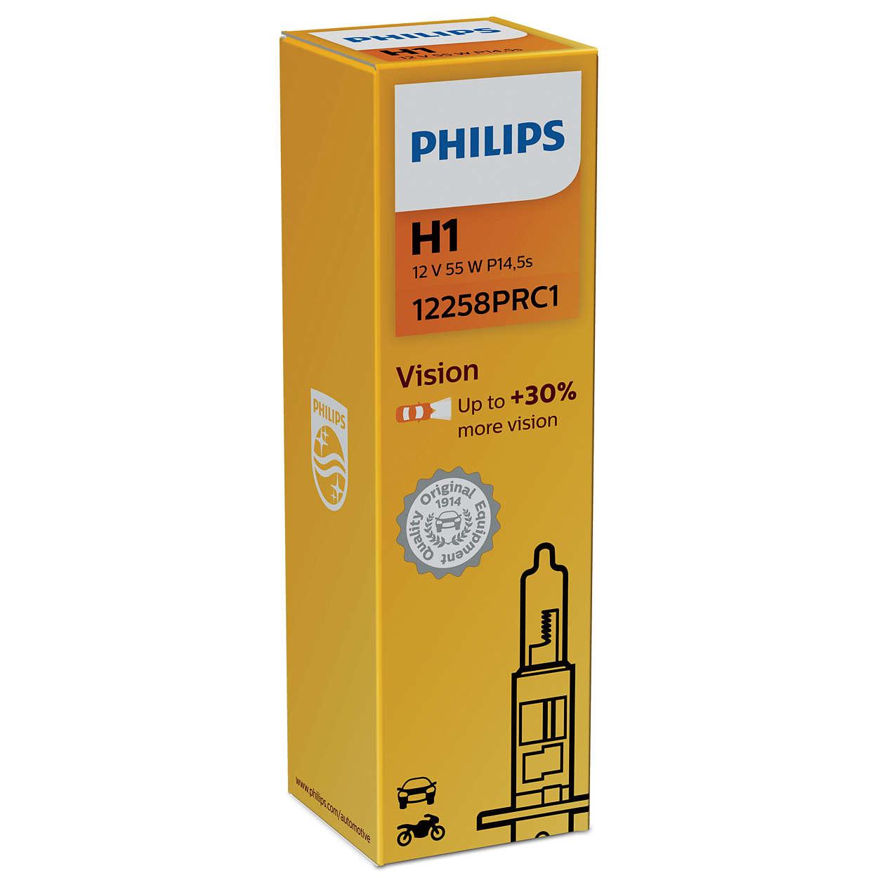 Philips Vision+30% 12258PRC1 H1 P14,5s 12V 55W