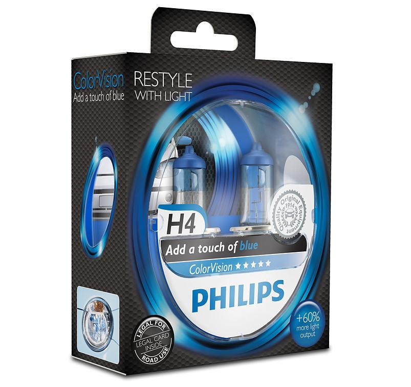 Philips ColorVision Blue 12342CVPBS2 H4 P43t-38 12V 60/55W 2ks