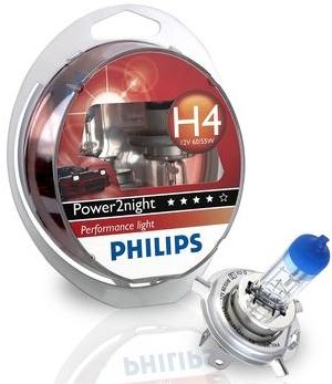 Philips Power2Night 12342GT150S2 H4 P43t-38 12V 60/55W 2ks