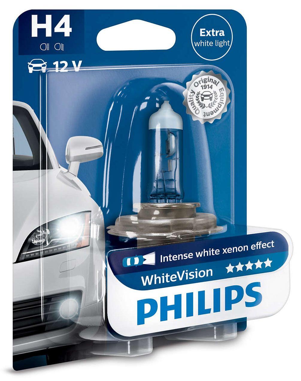 Philips WhiteVision 12342WHVB1 H4 P43t-38 12V 60/55W