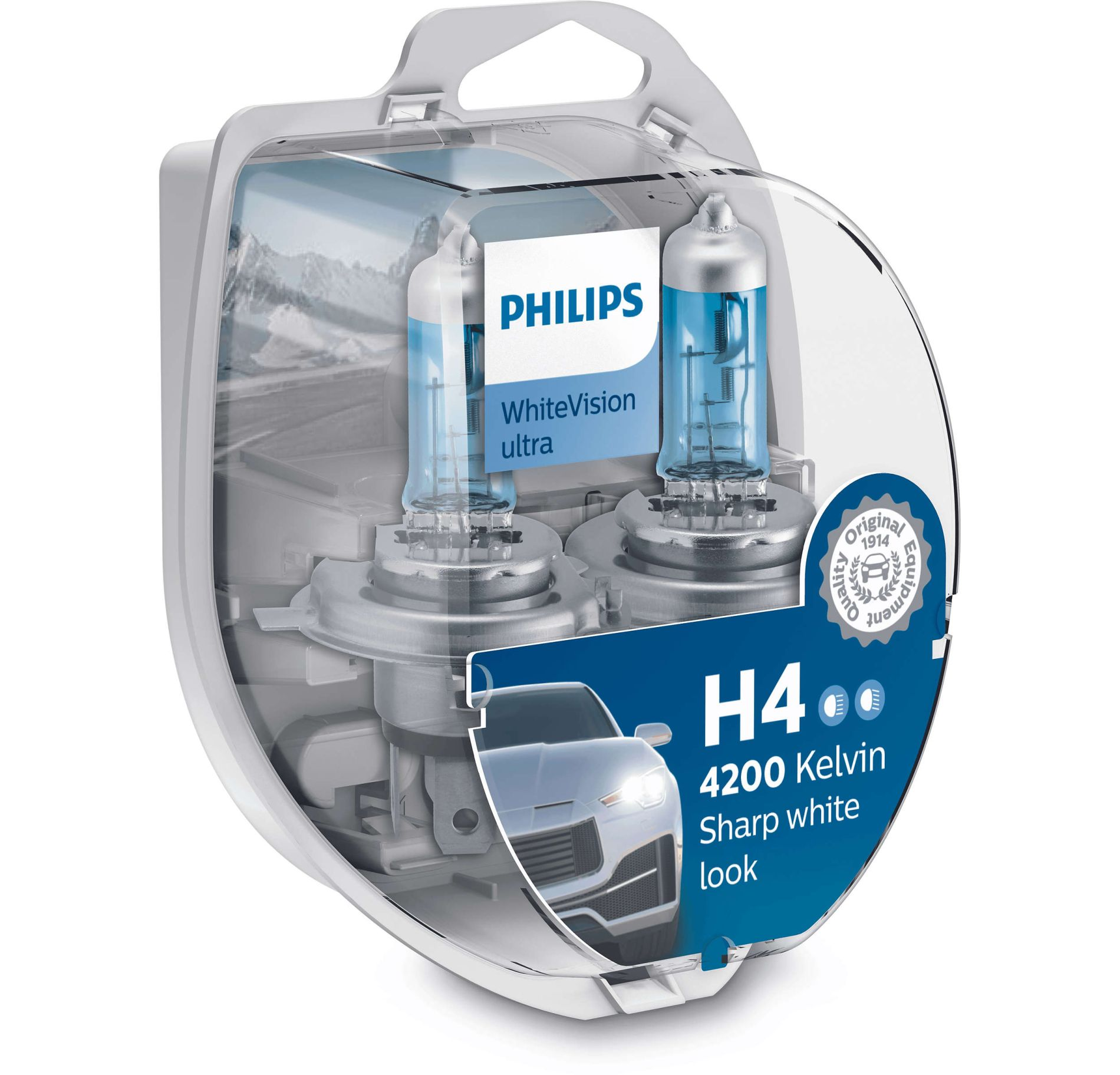 Philips WhiteVision ultra 12342WVUSM H4 P43t-38 12V 60/55W 2ks blistr