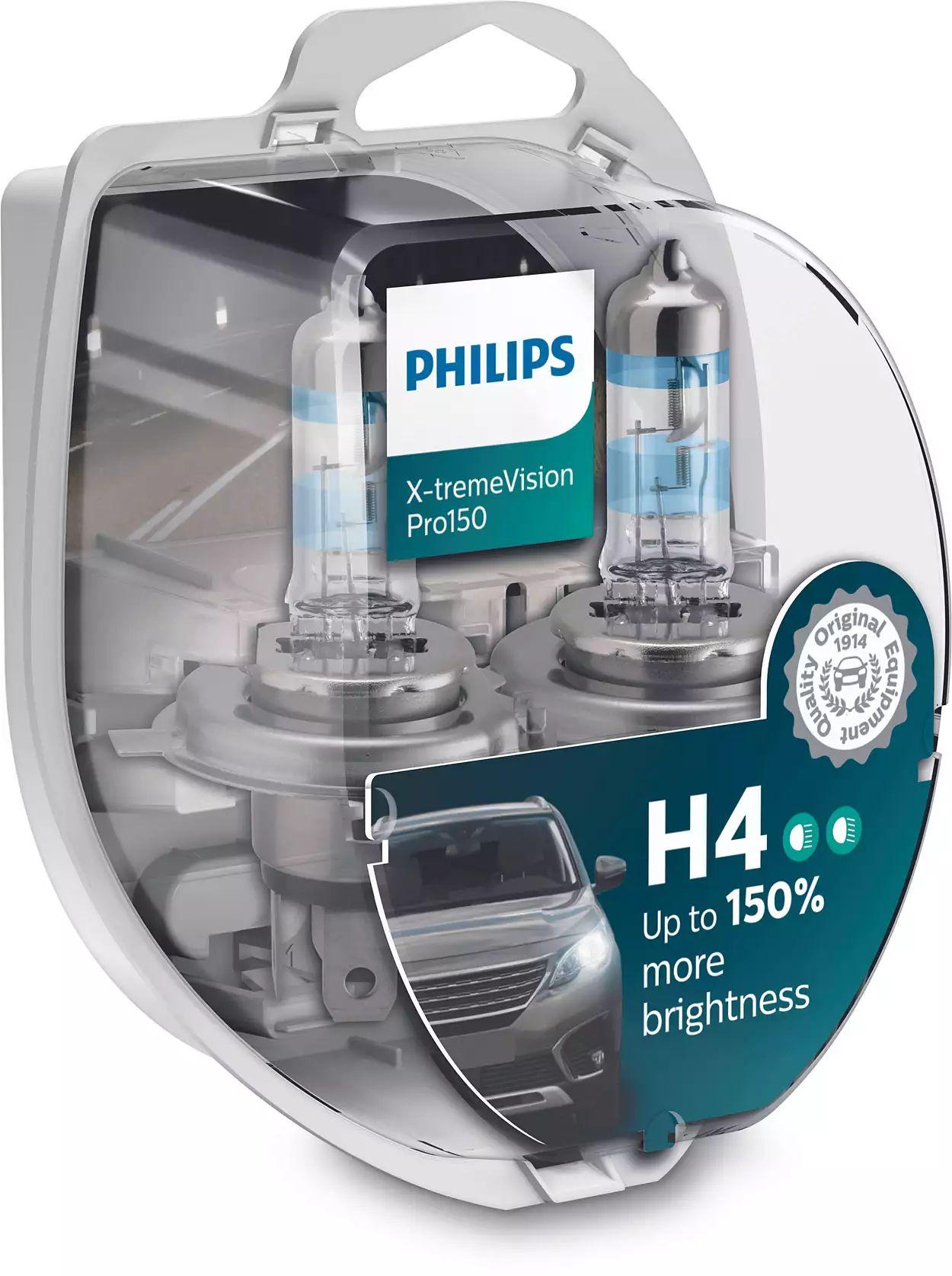 Philips XtremeVision Pro150 12342XVPS2 H4 P43t-38 12V 60/55W 2ks