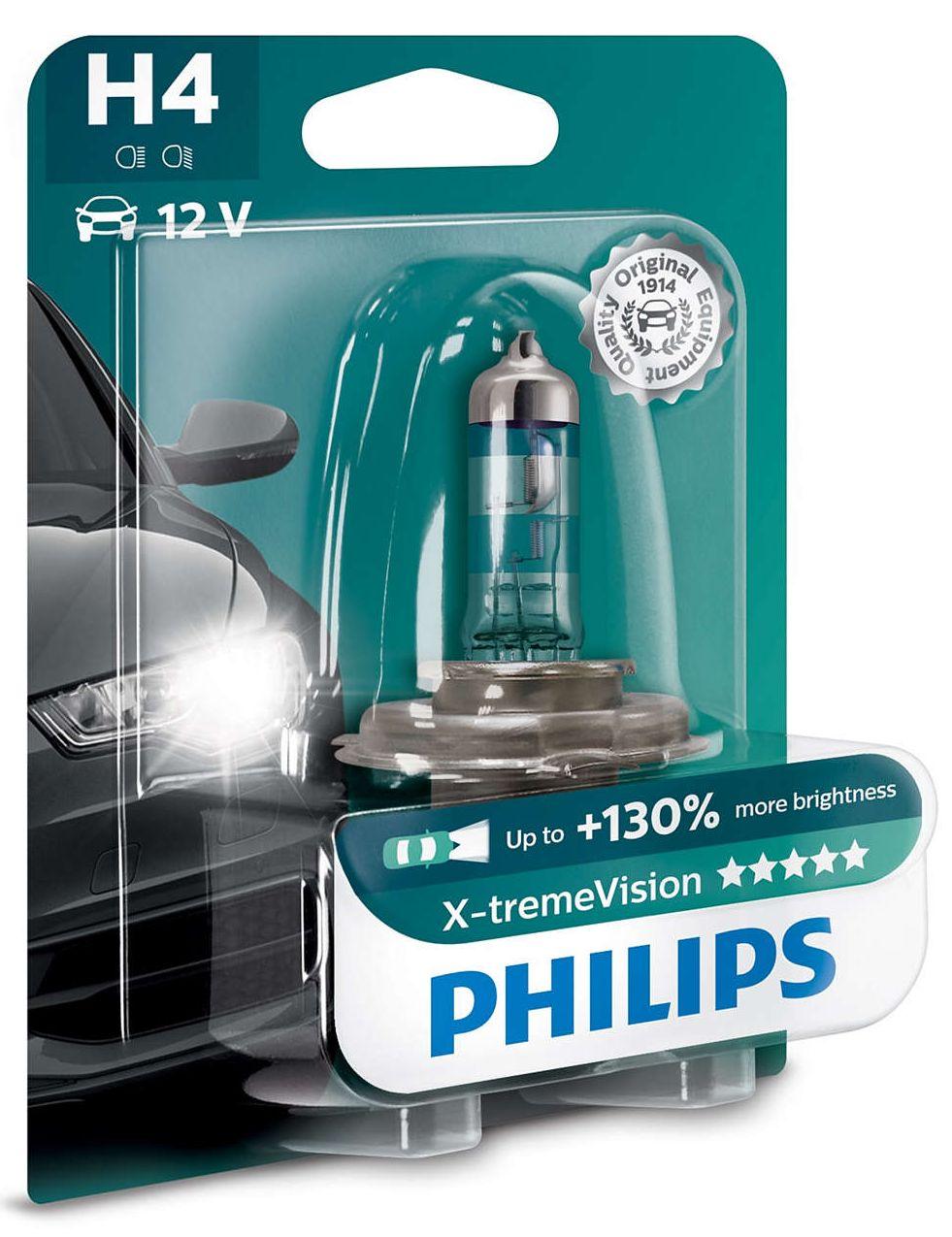 Philips XtremeVision+130% 12342XV+B1 H4 P43t-38 12V 60/55W blistr