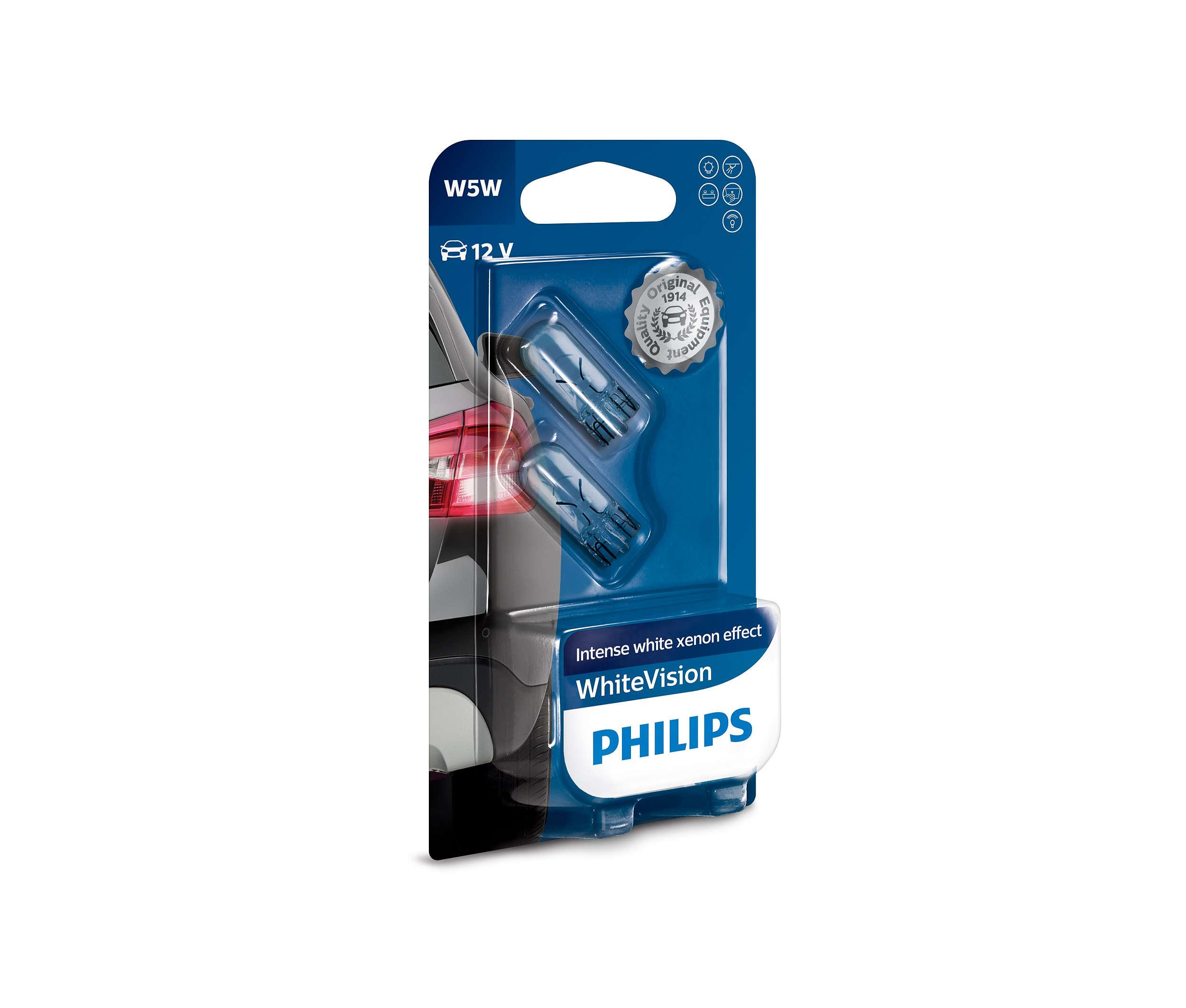 Philips WhiteVision 12961NBVB2 W5W W2,1x9,5d 12V 5W blistr 2ks