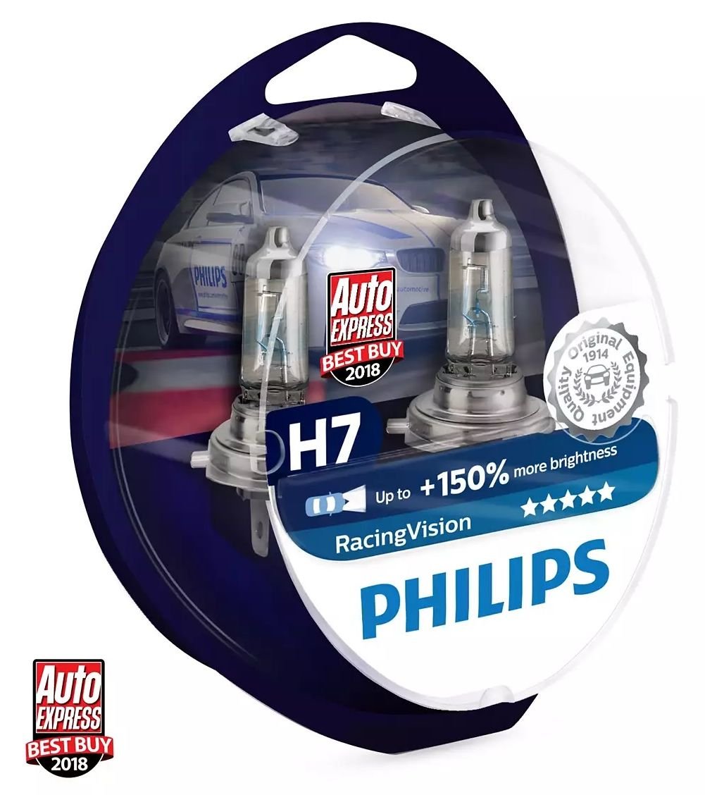 Philips Racing Vision+150% 12972RVS2 H7 PX26d 12V 55W