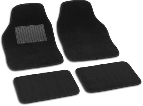 Bottari Koberce textilní SOFT černé 4 kusy
