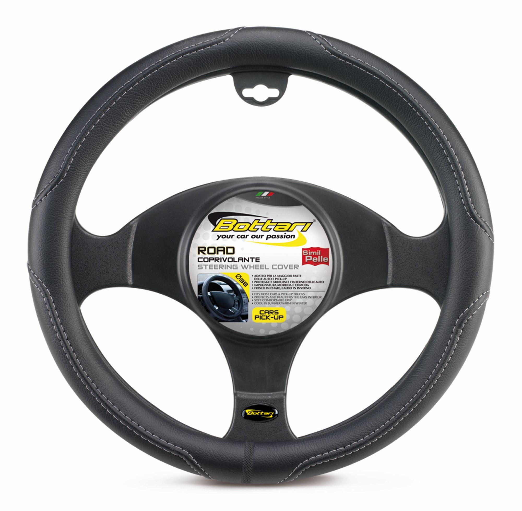 Bottari Potah volantu ROAD černošedý 38cm