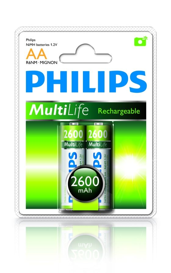 PHILIPS Baterie Multilife AA 2ks 2600mAh