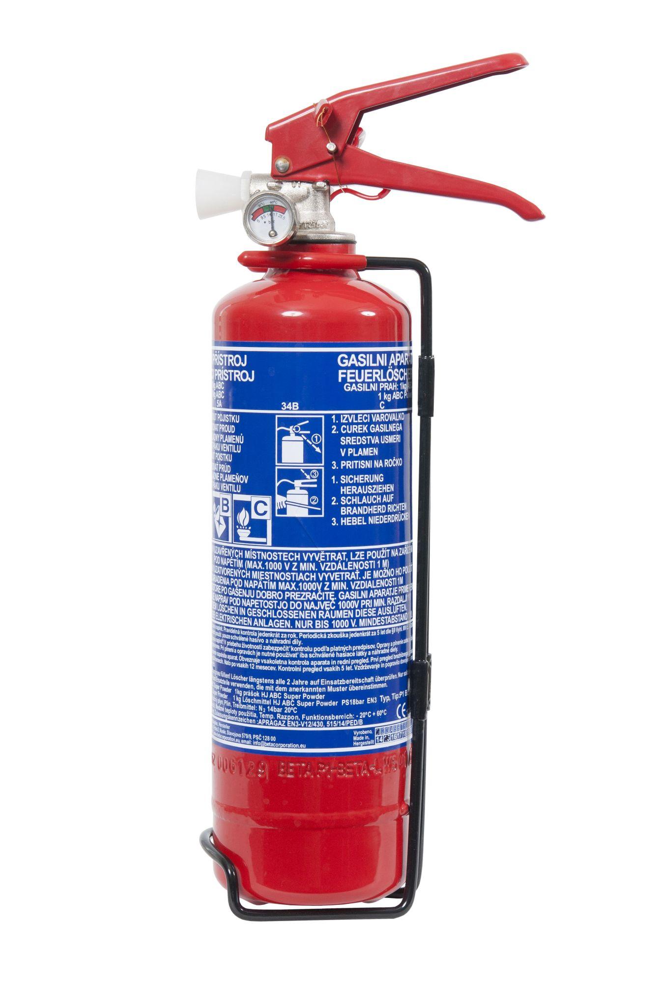 Červinka Přístroj hasicí 1kg A/B/C manometr