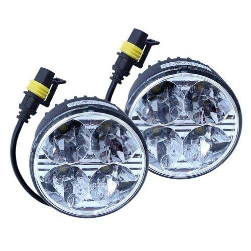 Compass Světla denního svícení (kulatá 70 mm) 4 HIGH POWER LED 12V/24V