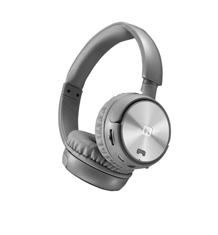 Swissten 52510501 Sluchátka bluetooth stereo TRIX stříbrno-šedé