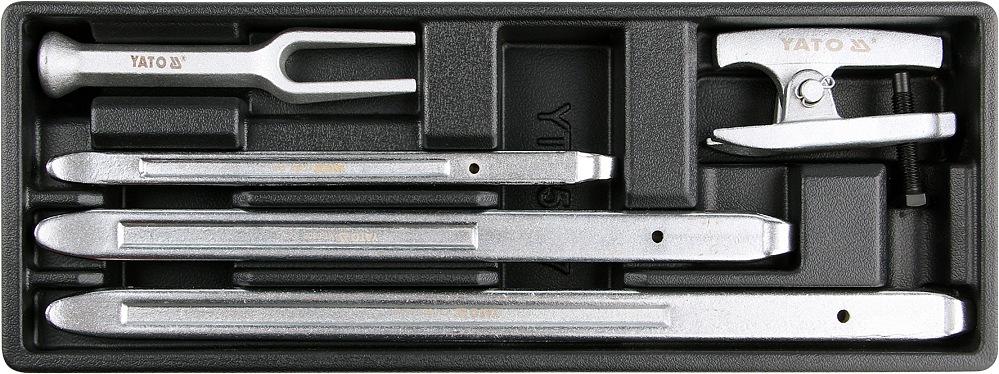 Vložka do zásuvky - 3x montážní páka na pneu, 2x stahovák kulových čepů