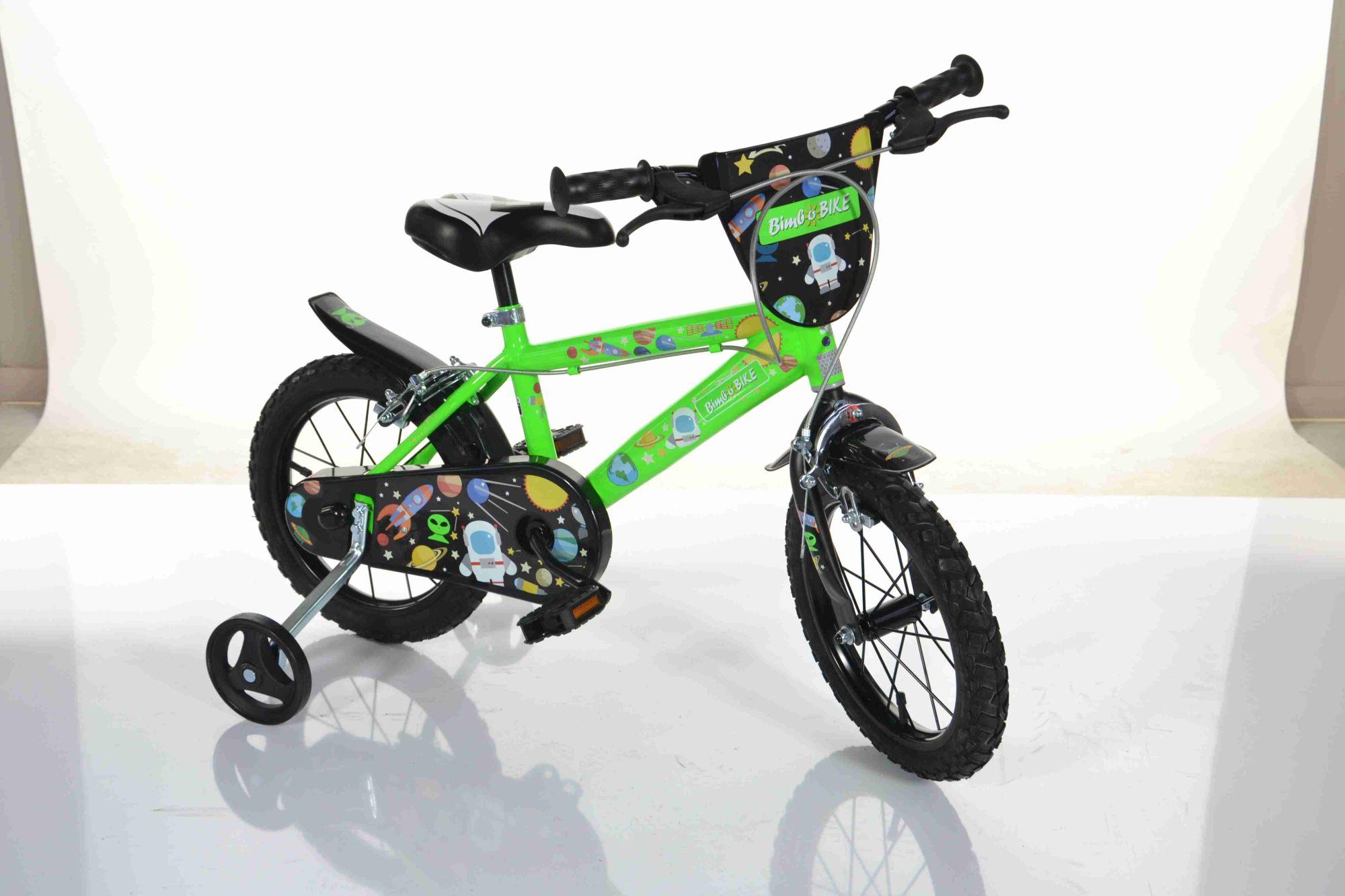 BimboBike BOY COSMOS 77335 zeleno-černé MTB 14''