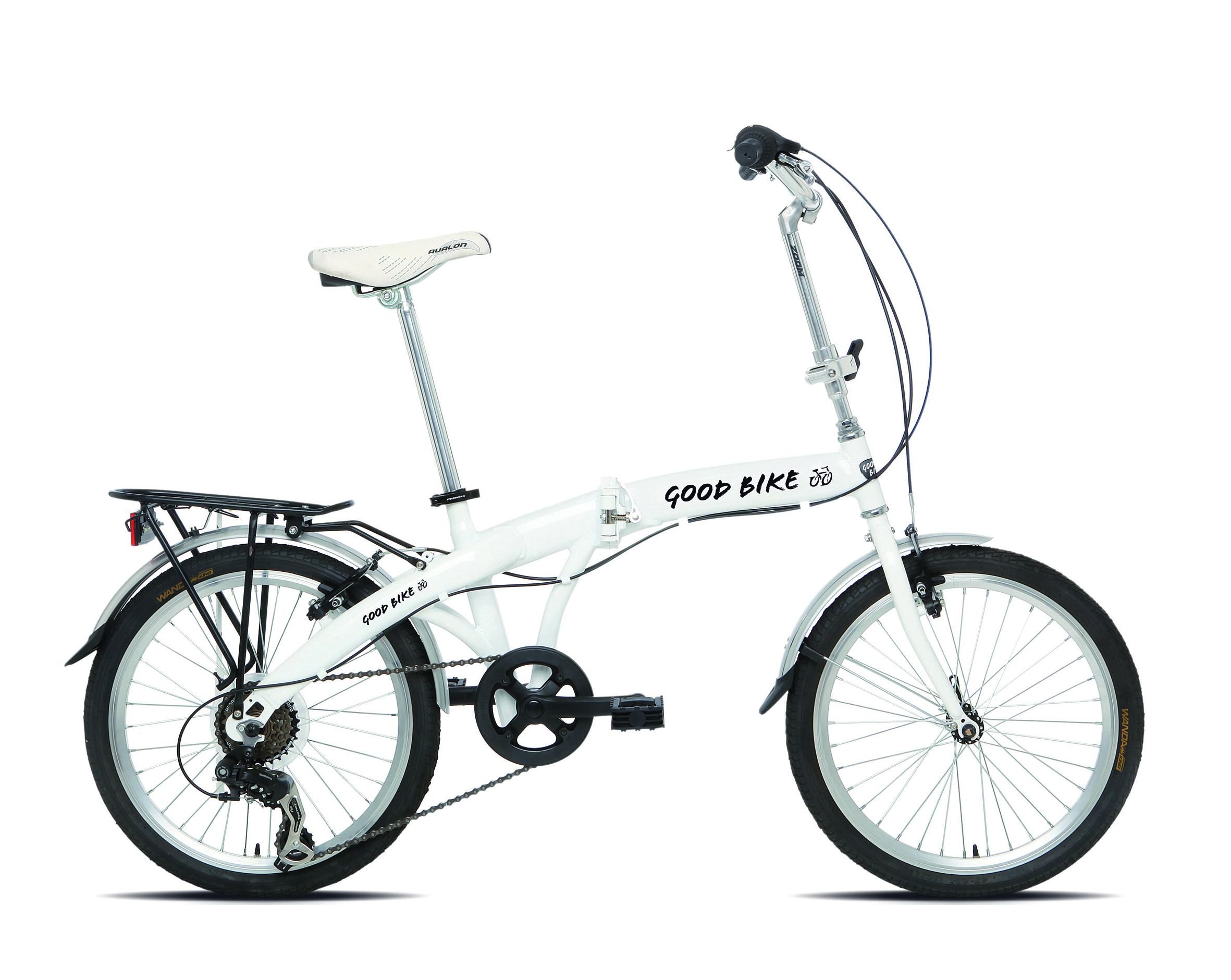 Goodbike Skládací kolo FOLDABLE 77408 bílé 20'' velikost univerzální