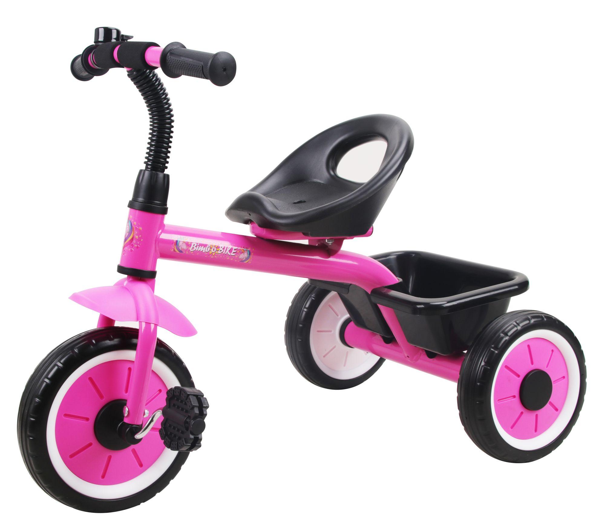 BimboBike Dětská tříkolka UNICORN růžová (od 2 let)