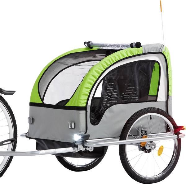 Fischer Přívesný vozík za kolo pro 2 děti KONFORT