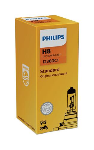 Philips Vision 12360C1 H8 PGJ19-1 12V 35W