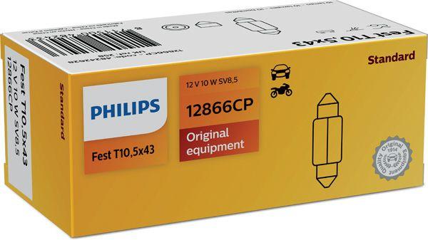 Philips Vision 12866CP T10,5x43 SV8,5 12V 10W 1ks