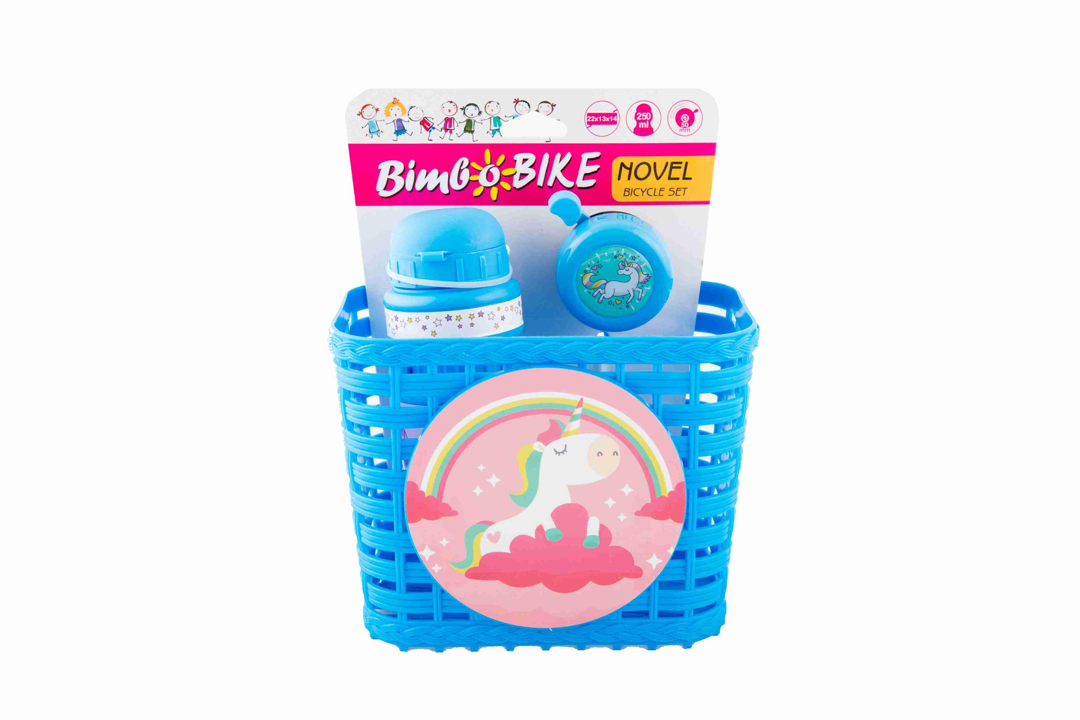 Goodbike Koš dětský plastový se zvonkem a lahví