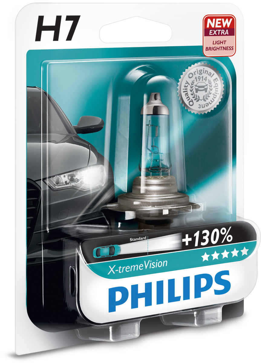 Žárovka 12V H7 55W Philips XtremeVision +130%