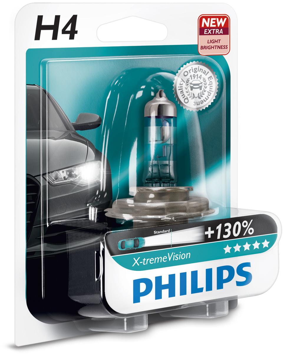 Žárovka 12V H4 60/55W Philips XtremeVision+130%