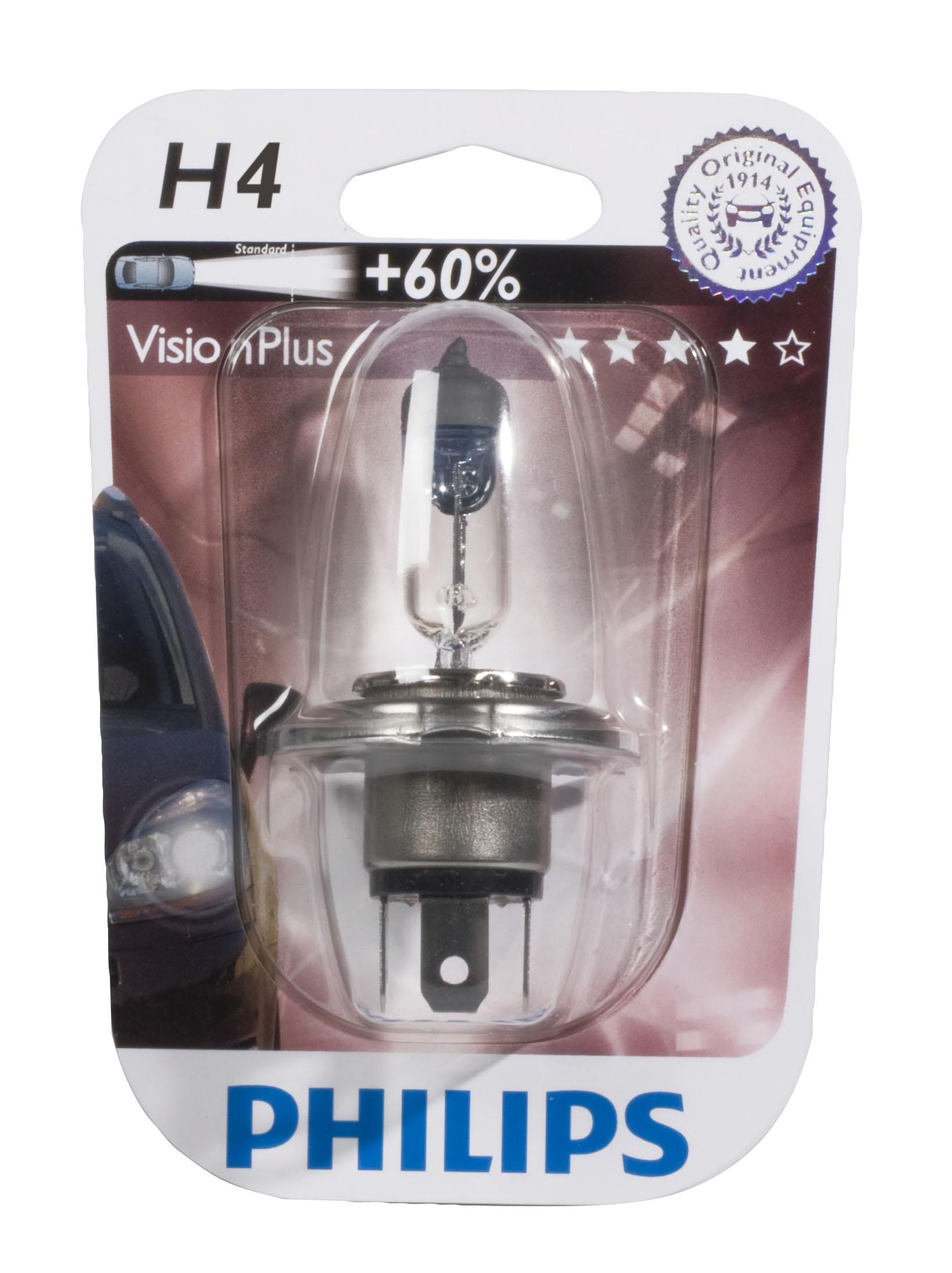 Žárovka 12V H4 60/55W Philips VisionPlus +60%