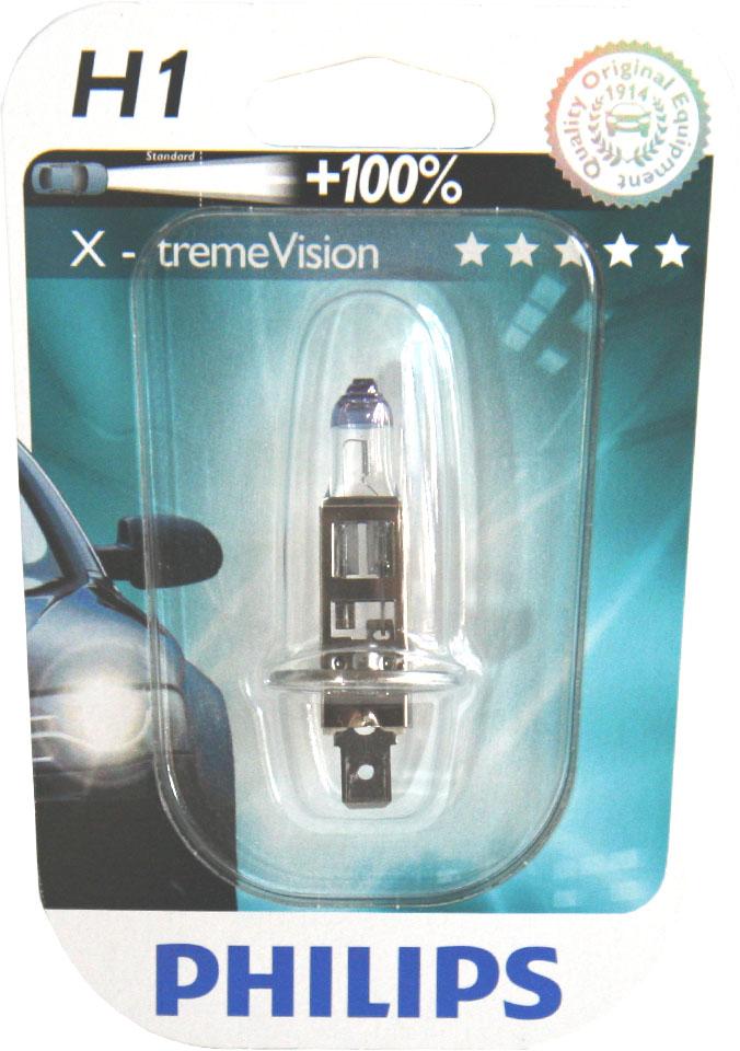 Philips X-tremeVision 12258XVB1 H1 P14,5s 12V 55W