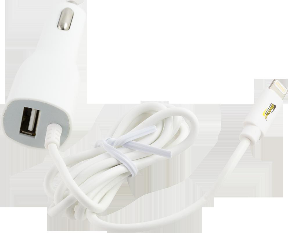 Nabíječka USB 12/24V 2A + nabíjecí kabel 1m pro iPhone5