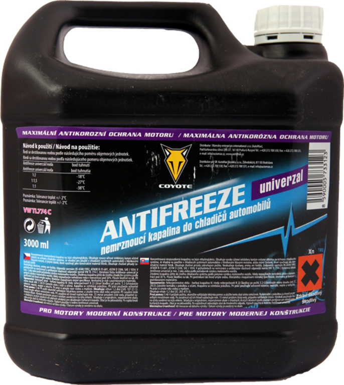 Coyote Antifreeze nemrznoucí směs do chladičů