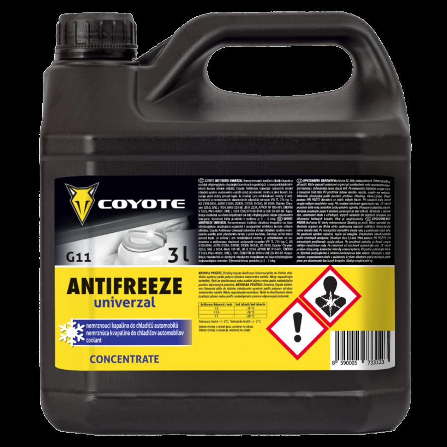 Coyote Antifreeze nemrznoucí směs do chladičůG11 Univerzal 3l