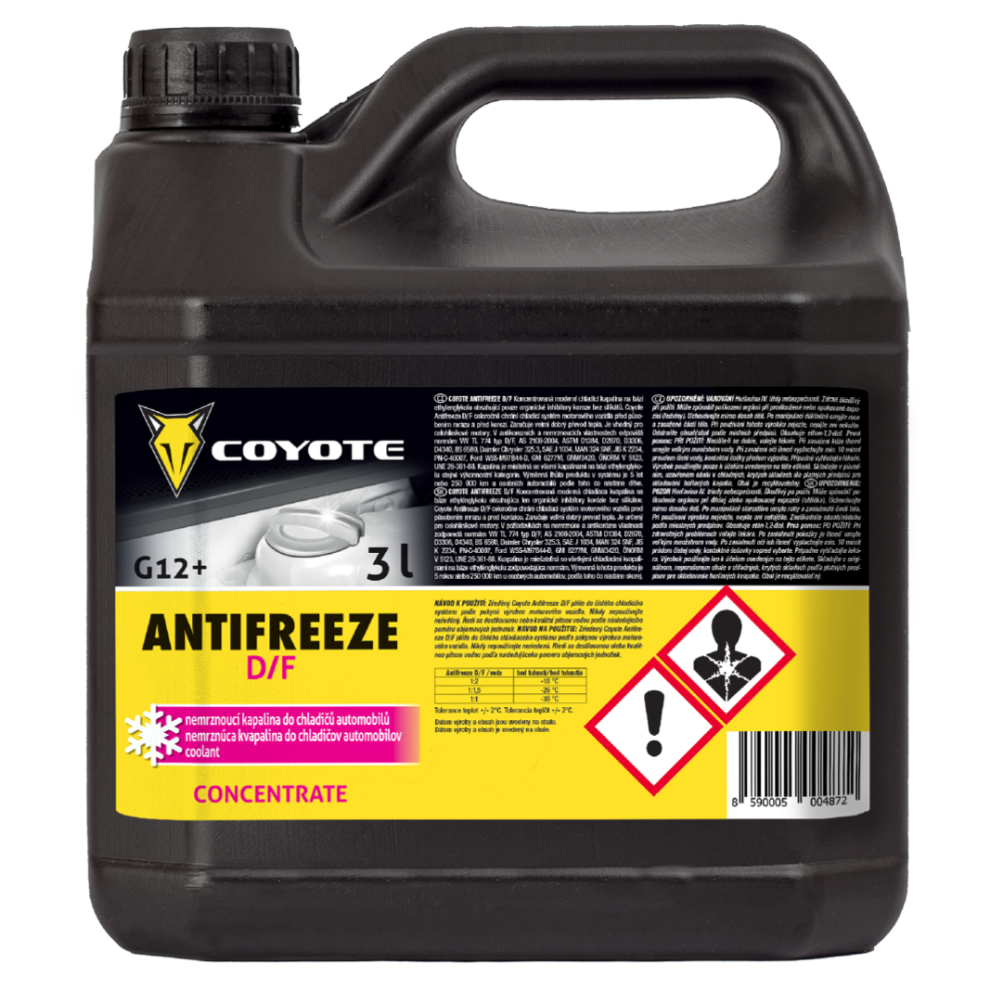 Coyote Antifreeze nemrznoucí směs do chladičů D/F 3l