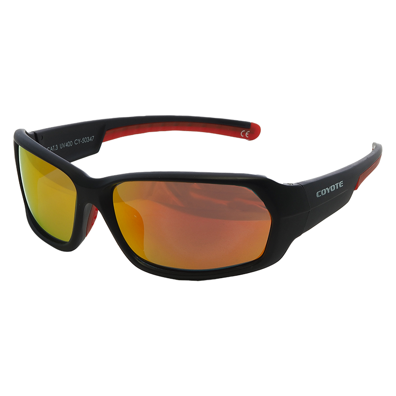 Coyote Vision Brýle SPORT polarizační REVO černo-červené CY-50347