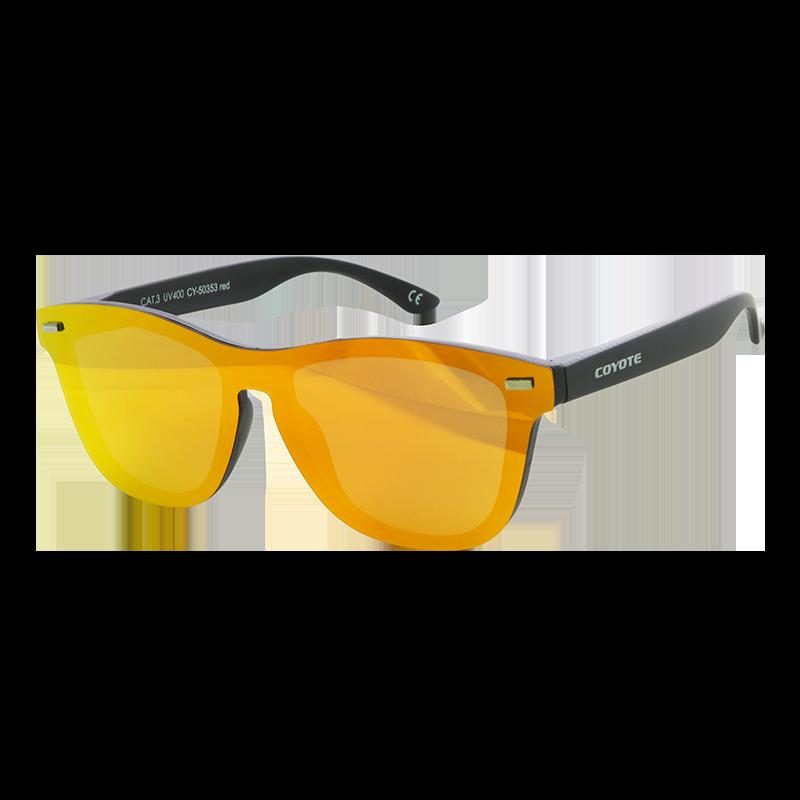 Coyote Vision Brýle FASHION polarizační REVO celosklo oranžovo-červené CY-50353