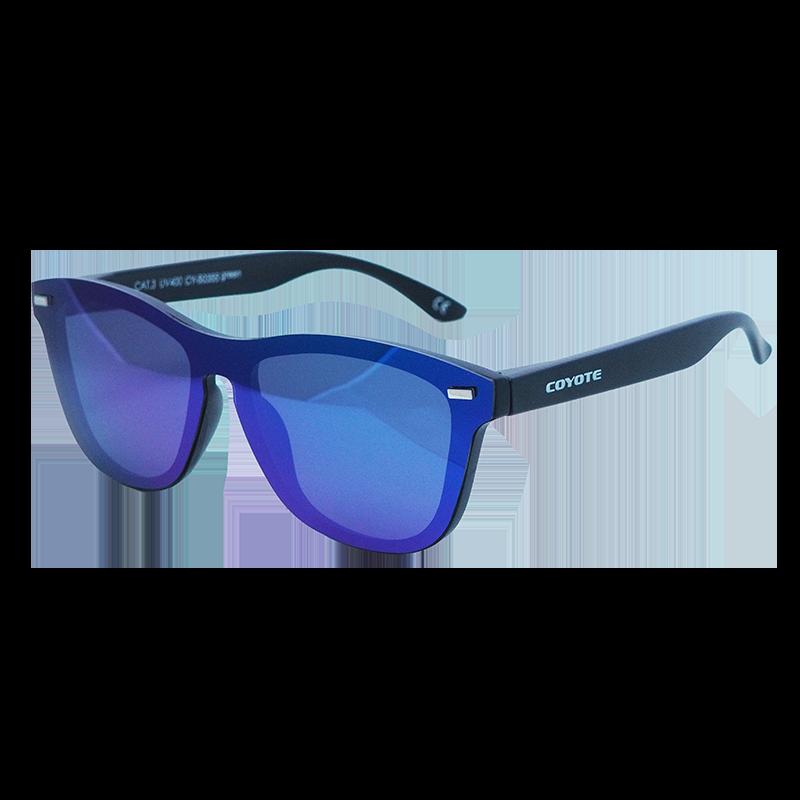 Coyote Vision Brýle FASHION polarizační REVO celosklo modro-zelené CY-50355