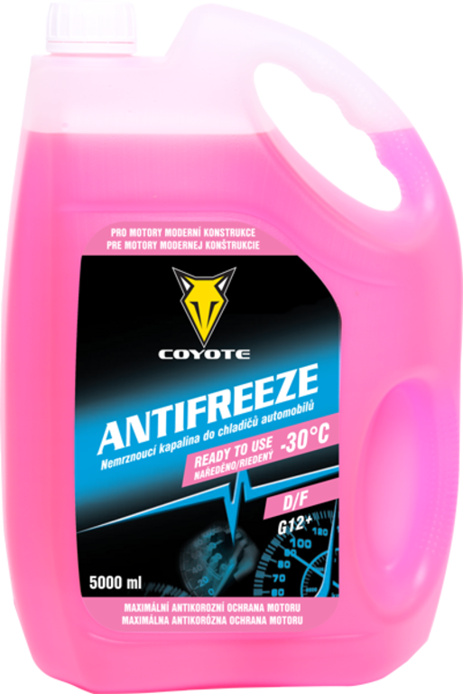 Coyote Antifreeze nemrznoucí směs do chladičů D/F READY -30°C 5 l