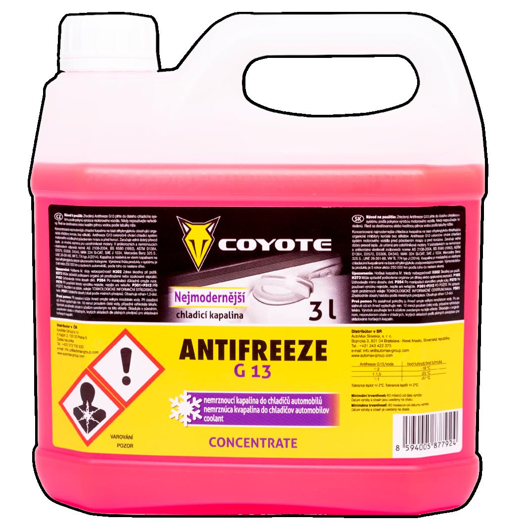 Coyote Antifreeze G13 nemrznoucí směs do chladičů koncentrát 3 l