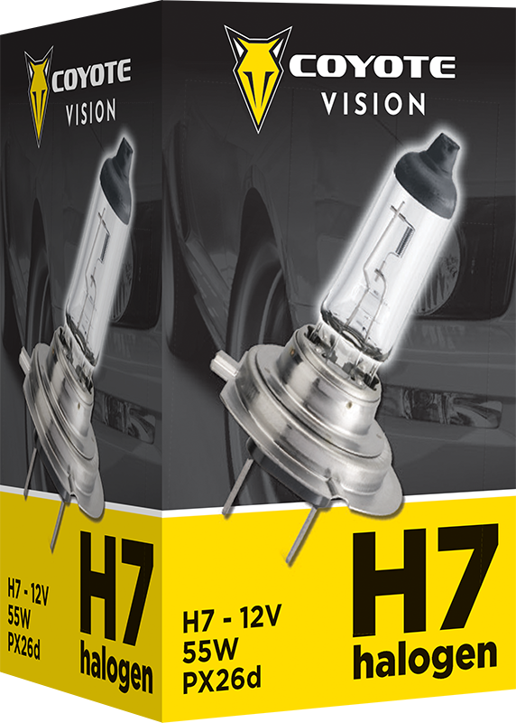 Coyote Vision 87858 H7 PX26d 12V 55W