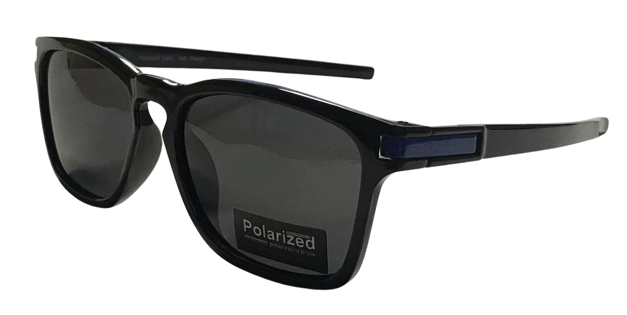 Coyote Vision Brýle FASHION polarizační černé s modrou aplikací SGLPO2.195