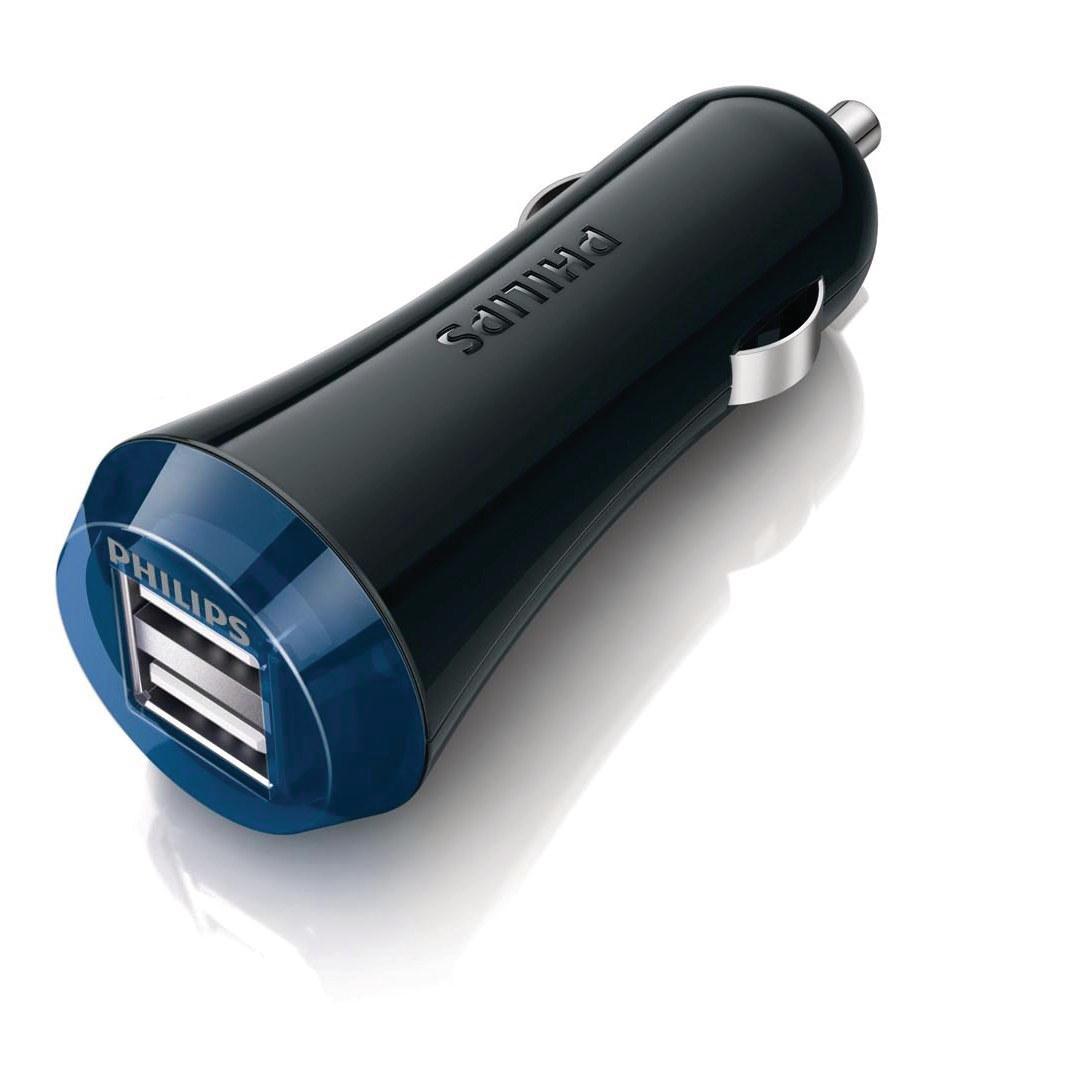 Philips Nabíječka USB 12/24V pro tablet 2,1AMP