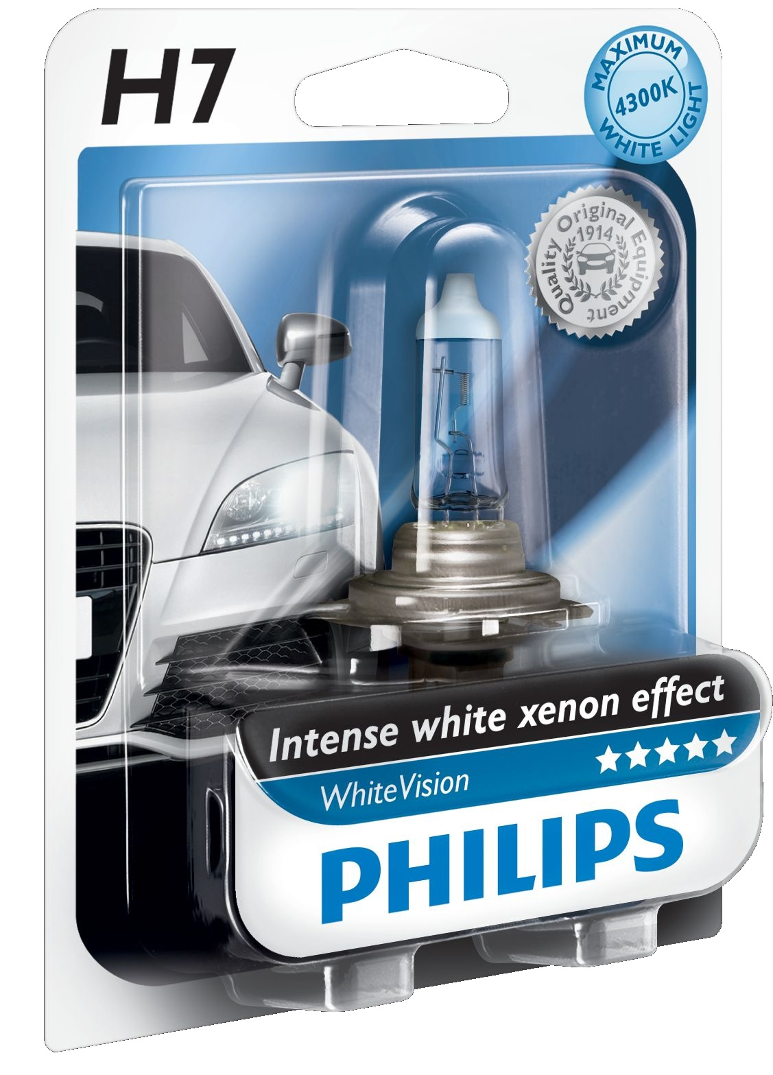 Žárovka 12V H7 55W Philips WhiteVision
