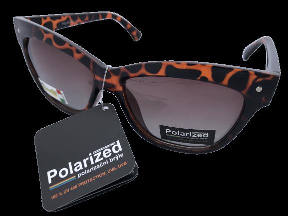 Brýle Polarized polarizační plastové hnědé tygrované, hnědá skla