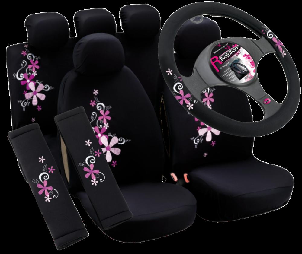 R.Evolution Girl Sada potahy sedadel + potah volantu + návleky pásů MY BOUQUET