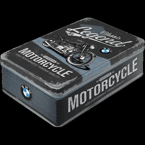 Retro Dóza plechová plochá BMW Motorcycle
