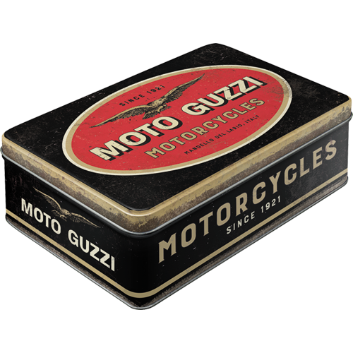 Retro Dóza plechová plochá Moto Guzzi
