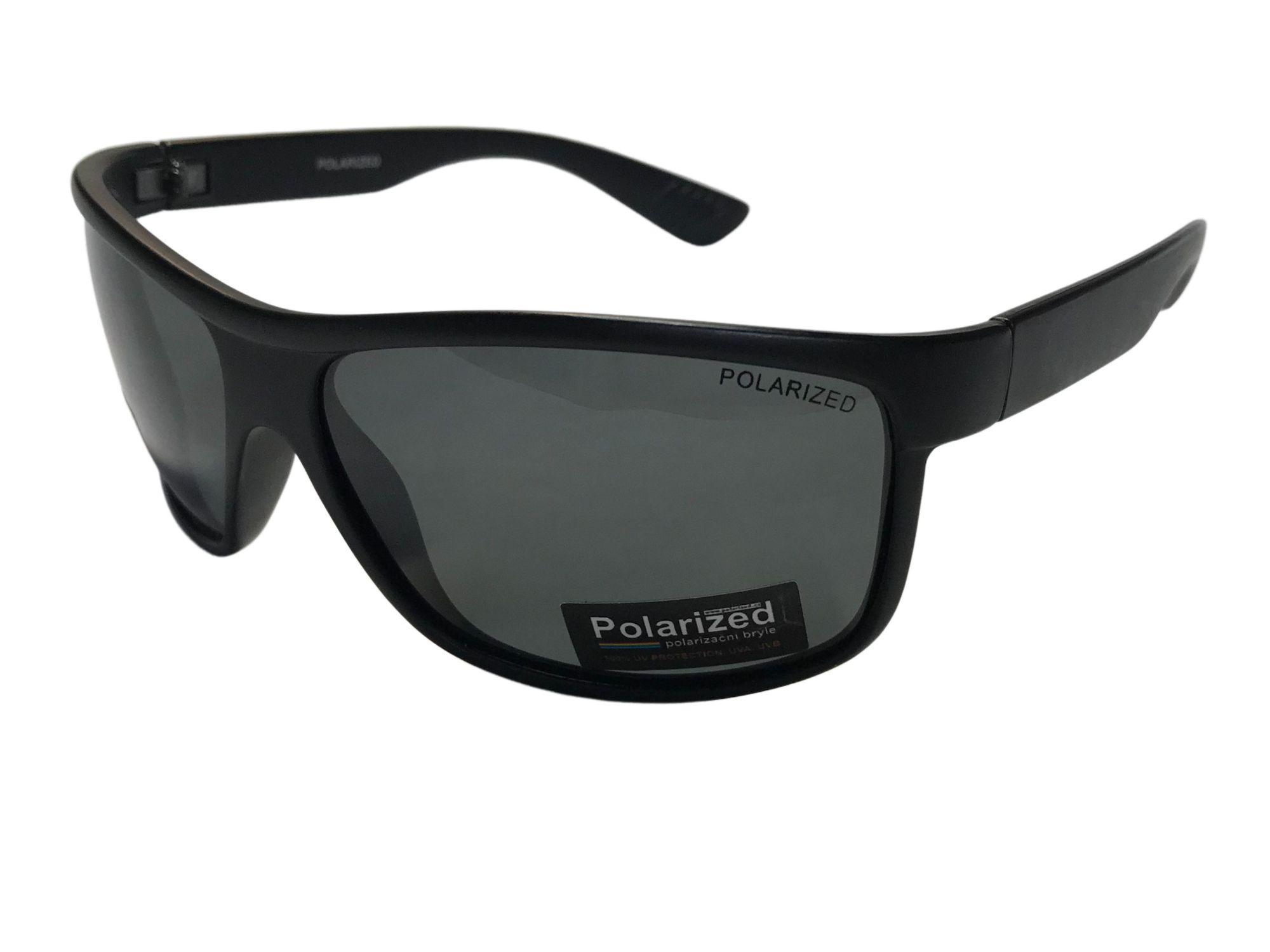 Polarized Brýle polarizační plastové černé matné polozrcadlové