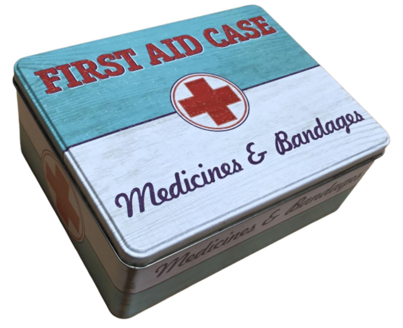 Lékárna plechová v retro dóze First Aid Case