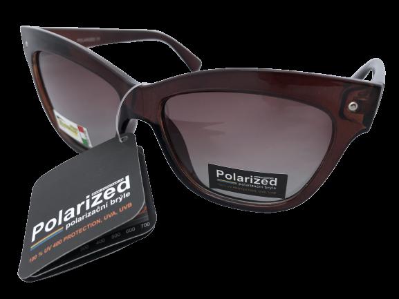 Polarized Brýle polarizační plastové hladké hnědé ,hnědá skla